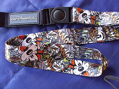 Disney * GRAFFITI - MICKEY & FRIENDS * Pin Trading Lanyard / Detachable Section