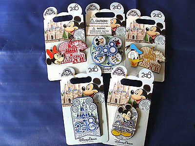Disney * WDW DATED 2018 STYLES - 5 PIN LOT * New on Card Trading Pins