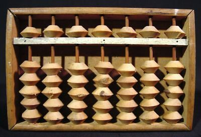 Japanese Abacus Soroban Antique Handy Wooden Calculator Rare Size
