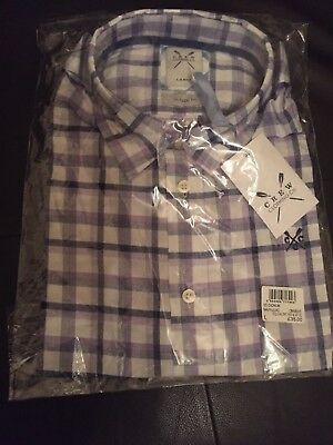 a329196c37c Crew Clothing Mens SS Cadmum Check Shirt Size Large.