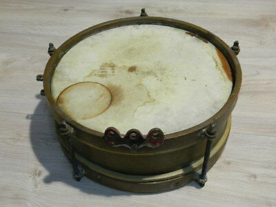 "alte SONOR MARSCHTROMMEL 14"" Messing Blechtrommel um 1930 old drum Germany"
