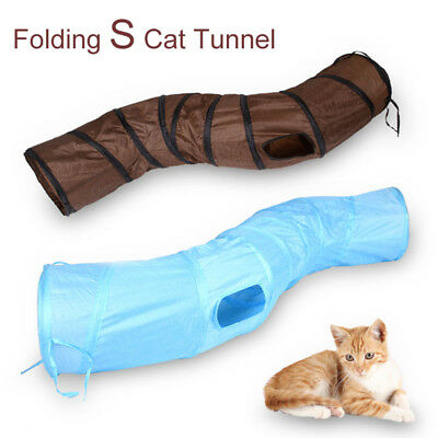 Foldable Cat Tunnel Pet Dog Kitten Playing Training Toy Home Rabbit Tube Tent