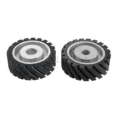 1PC Abrasive Belt Wheel Rubber Polishing Contact Buffing Grinding Rotary Tool