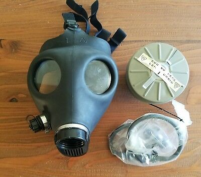 Israeli Civilian Gas Mask With Sealed Nato Filter New With Drinking Hose