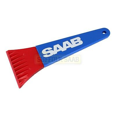 "Saab Genuine Winter Ice Scraper Red Blue 10"" Handle 4"" Blade Rare Brand New"