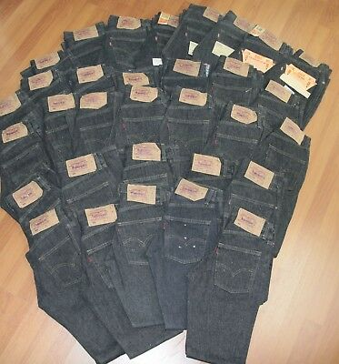 Stock lotto Levis 501 Black w24 w26 w27 w28 woman vintage levi's 32 pieces jeans