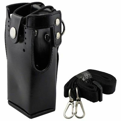 1X(FOR Motorola Hard Leather Case Carrying Holder FOR Motorola Two Way Radi H4H7