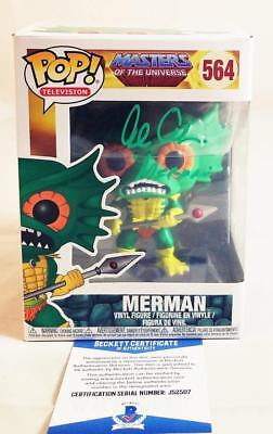 Alan Oppenheimer Merman Signed Funko Pop Motu Bas Coa 507