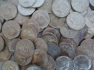 1964 Kennedy Half Dollars, Lot of 4, 90% Silver, Circulated