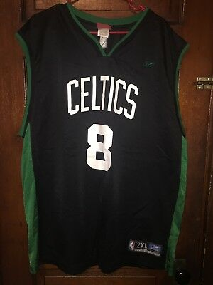 Boston Celtics  8 Antoine Walker Reebok Basketball Jersey Mens Size 2XL NBA c409915f0