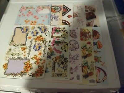 10X 3D Sheets For Making Cards  Tbz Relief Scissors Need New 21X28 Cm (A4303)