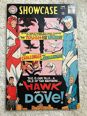 Showcase #75 1968 VF+ 8.5, origin and first appearance Hawk and Dove TITANS SHOW