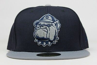 more photos be593 ed93d Georgetown Hoyas Navy Grey More Uptempo NCAA New Era 59Fifty Fitted Hat Cap  DS