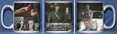 Stephen Amell Arrow Oliver Queen Green Arrow Mug Design1 Secret Santa Gift Idea