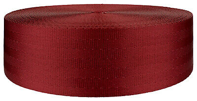 2 Inch Red Seat-belt Polyester Webbing Closeout, 5 Yards