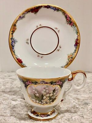 LILY OF THE VALLEY - Teacup & Saucer Tea / Coffee Cup - Lena Liu Flower Month