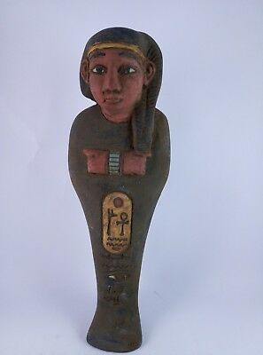 RARE ANCIENT EGYPTIAN ARTIFACT Antiquities Hieroglyphic Shabti Ushabti Bc