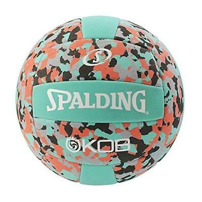 Spalding Kob (72351Z) Beach Volleyball Volley Ball, Turquoise/Red, 5.0