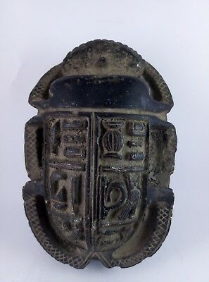 ANCIENT EGYPTIAN ANTIQUE EGYPT Scarab Hieroglyphs Beetle Scarabs Carved Stone Bc