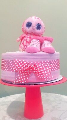 Owl You Need Is LOVE One Tier Baby Girl Diaper Cake Gift!!