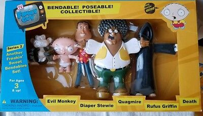 Family Guy Bendy Figures Series 2 Set Of 5 Mint Boxed Poseable Bendable