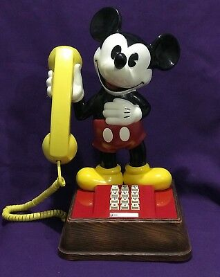 Vintage 70's Walt Disney - Mickey Mouse Telephone - Factory Reconditioned