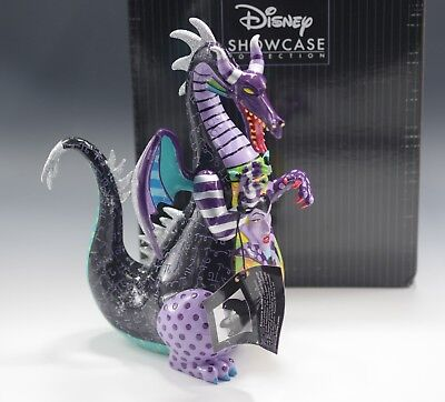 Disney Britto Sleeping Beauty Maleficent Dragon Figurine New