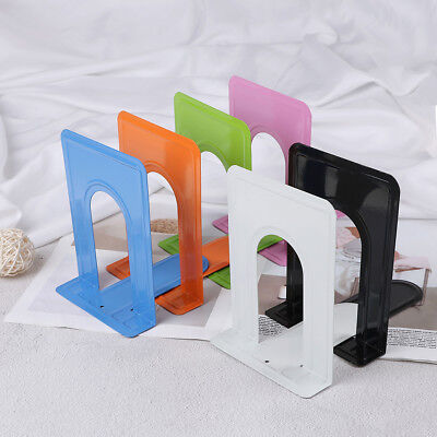 Colourful Heavy Duty Metal Bookends Book Ends Office Stationery XR