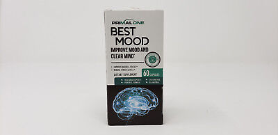 Primal One Best Mood Nootropic Mood Booster & Stress Relief Supplement exp 05/21