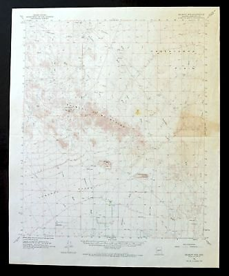 BELMONT MOUNTAINS ARIZONA Vintage USGS Topo Map 1962 west of White Tank Mts