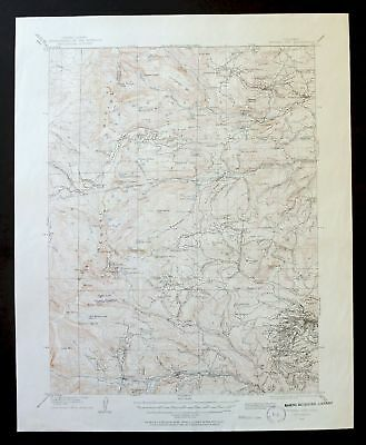 Central City Colorado Vintage USGS Topographic Map 1910 Nederland 15-minute Topo