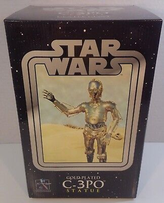 STAR WARS Gold Plated *C-3PO* STATUE 2005 Gentle Giant LIMITED EDITION 2369/3000