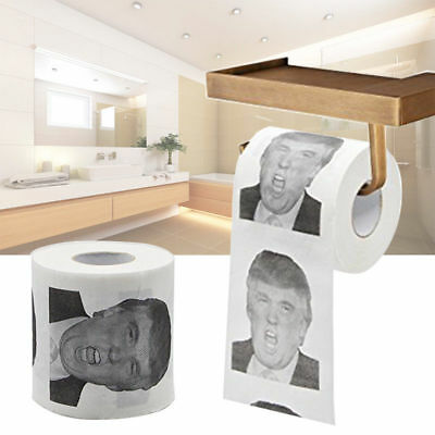 USA President Donald Trump Printed Toilet Paper Roll Gag Gift Prank Joke Fun
