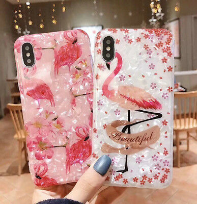 Phone case for iphone XS MAX XR X 8 7 6 6s plus Soft Silicone Shell Flamingo