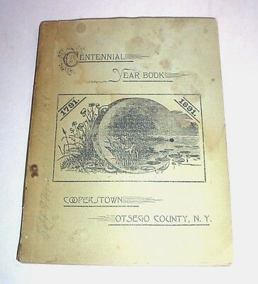 Cooperstown Otsego County NY Centennial Year Book -- 1891 Illus History, Ads