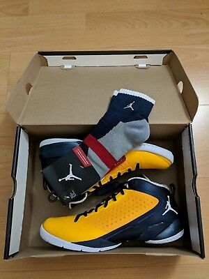11b6c5c5def ... closeout jordan fly wade 2 ii ev men 10 gold navy blue marquette golden  eagle wow