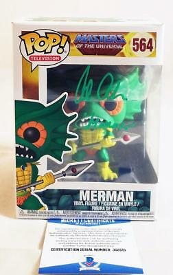 Alan Oppenheimer Merman Signed Funko Pop Motu Bas Coa 515