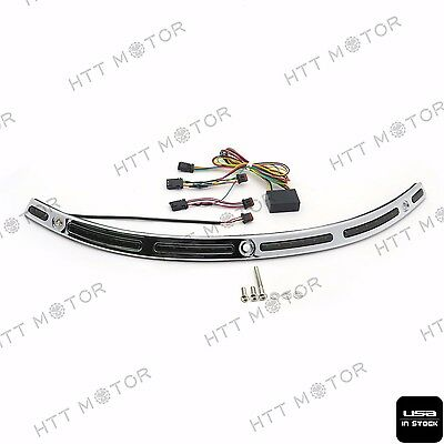 Led Windshield Chrom Zierleiste für Harley Touring Street Glide 14 15 16 17
