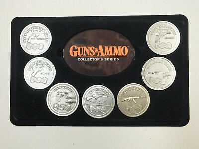 Vintage Guns & Ammo Collector Series Of Military Weapon Medallions