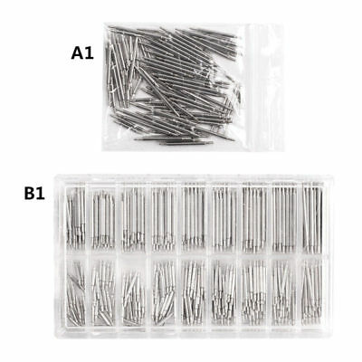 180 pcs Stainless Steel Watch Band Spring Bars Strap Link Pins 8-25mm Repair Kit