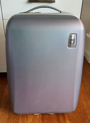 Antler Carry On Cabin Luggage - Silver/Lavender Metalic - 55cm - Hardside