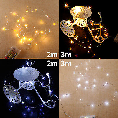 20/30 LED Battery Operated String Fairy Lights Wedding Party Indoor Outdoor