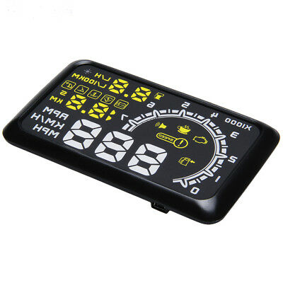 Universal Vehicle Car HUD Head Up Display OBDII Speed Water Fuel Consumption