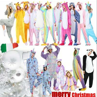 Pigiama kigurumi intero tuta carnevale feste animali zoo costume party#Christmas