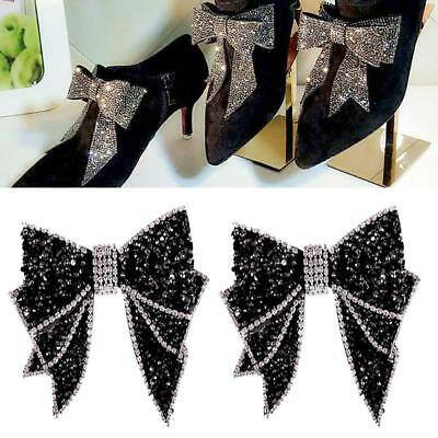 Gorgeous Bow Decorations Sandals High Heels Shoes Button Metal Shoe Decor Black