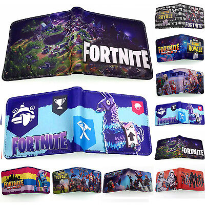Fortnite Wallet Short Bifold Holders Purse PU Leather Wallets Birthday Xmas Gift
