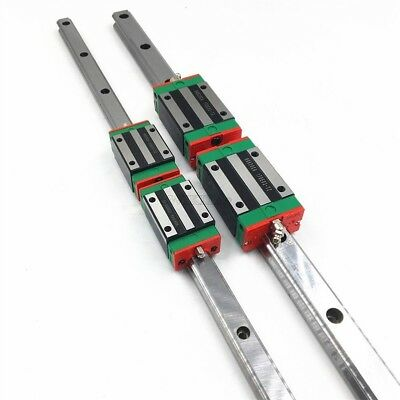 Rail Block Replace Hiwin 20Mm HGR20 Linear Rail Guide HGH20CA L2000MM / 2Pc le