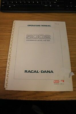 RACAL-DANA  - 5002 Operators Manual - Issue 4 Published July 1982 - R-033
