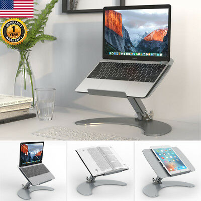 "Portable 13""-17"" Laptop Stand Adjustable Aluminum Tablet Holder Computer Desk"