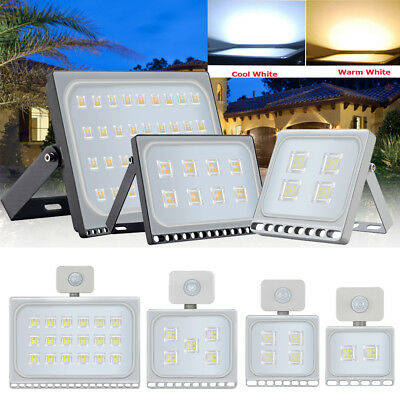 LED Security Floodlight 10/20/30/50/100/150W Motion Flood Lights Warm Cool IP65